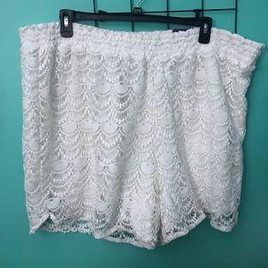 NWT Lane Bryant White Lace Shorts size 22/24